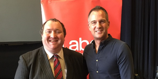 Michael Jones with Peter Kyle MP