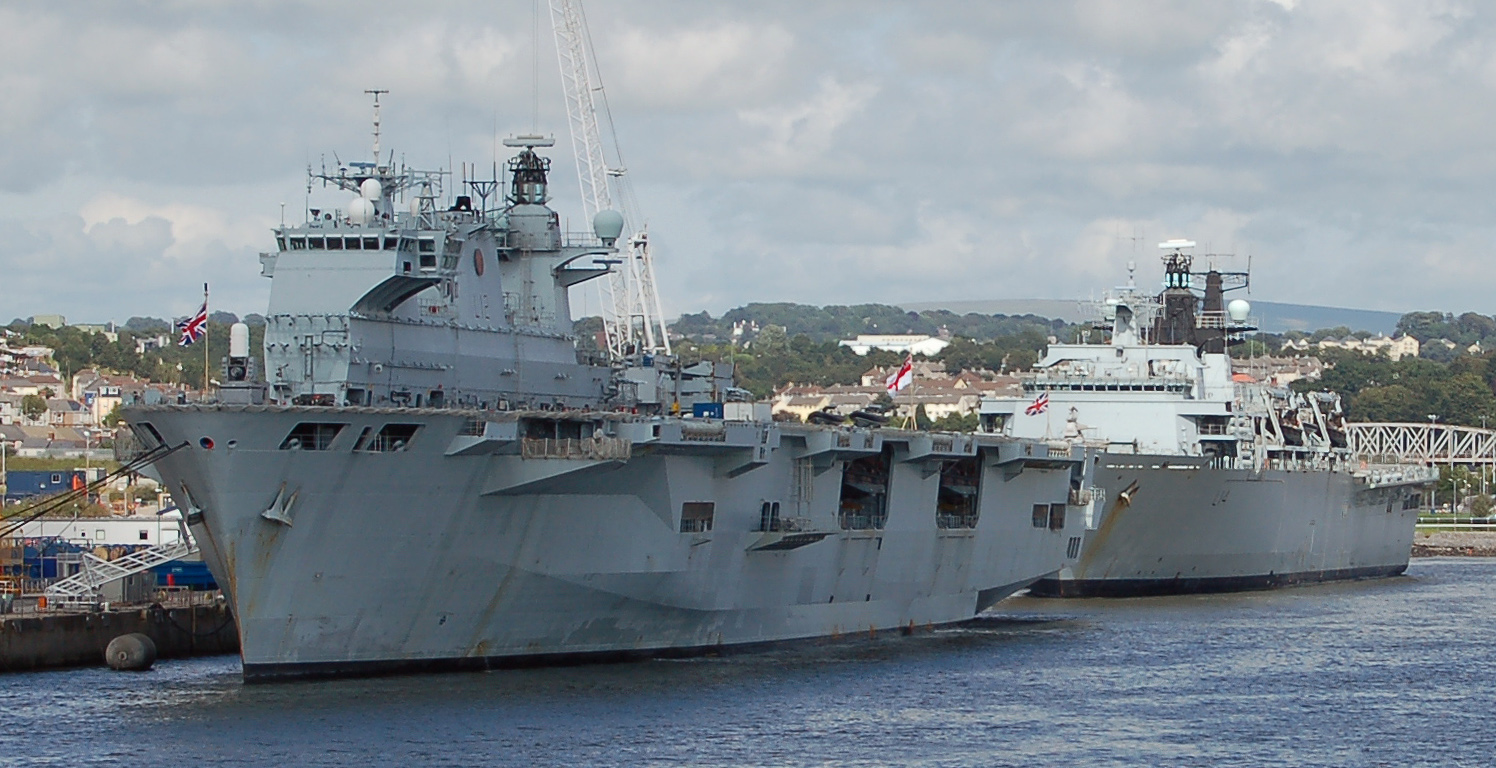 HMS_Ocean_and_Albion_in_Weston_Mill_lake__cropped.jpg