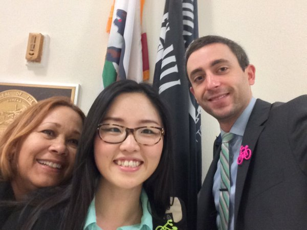 Cynthia, Hyeran and Eric at Lobby Day