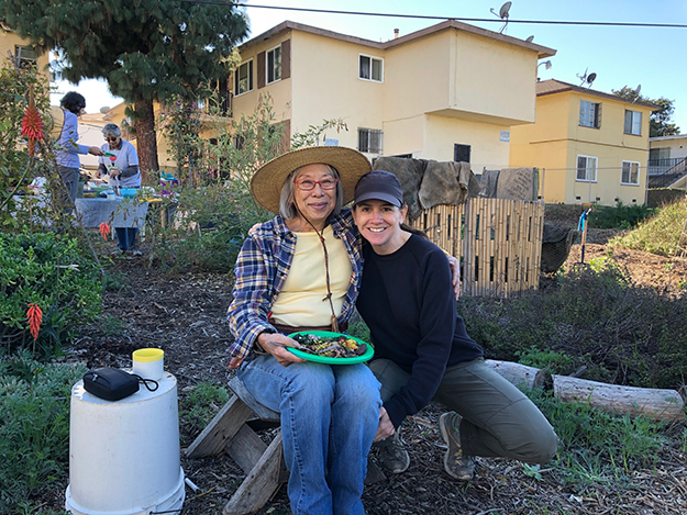 florence and beth - lagg teaching garden