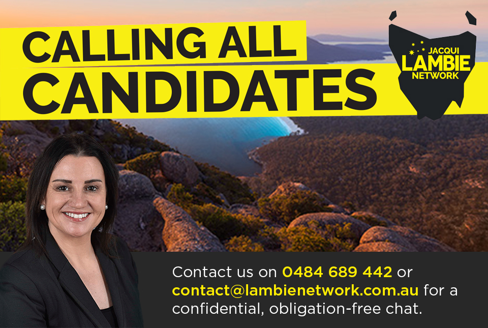 Jacqui Lambie Senator calls for candidates for the tasmania state election.jpg