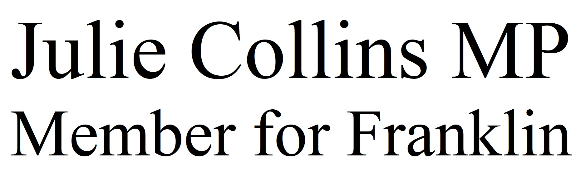 julie Collins logo