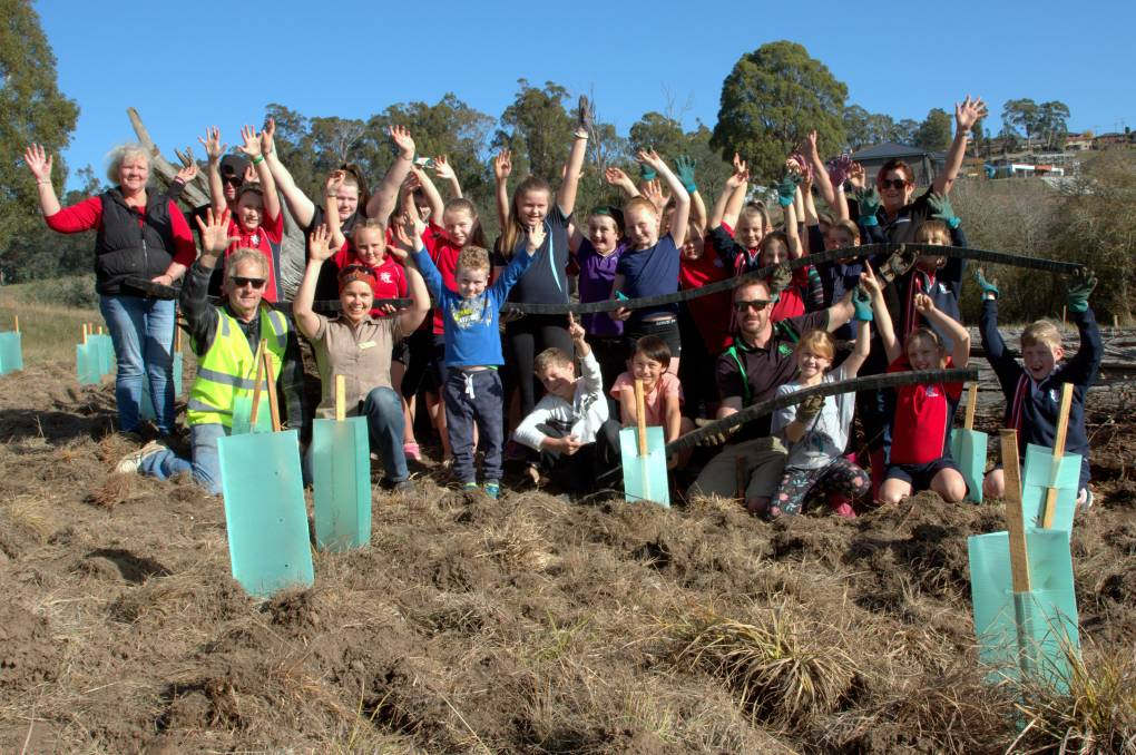 Volunteers take part in an event co-ordinated via the Tamar NRM