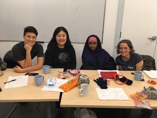 Picture of co-facilitator Kareen Wong (left) and three participants in the second program ran at Kiwassa