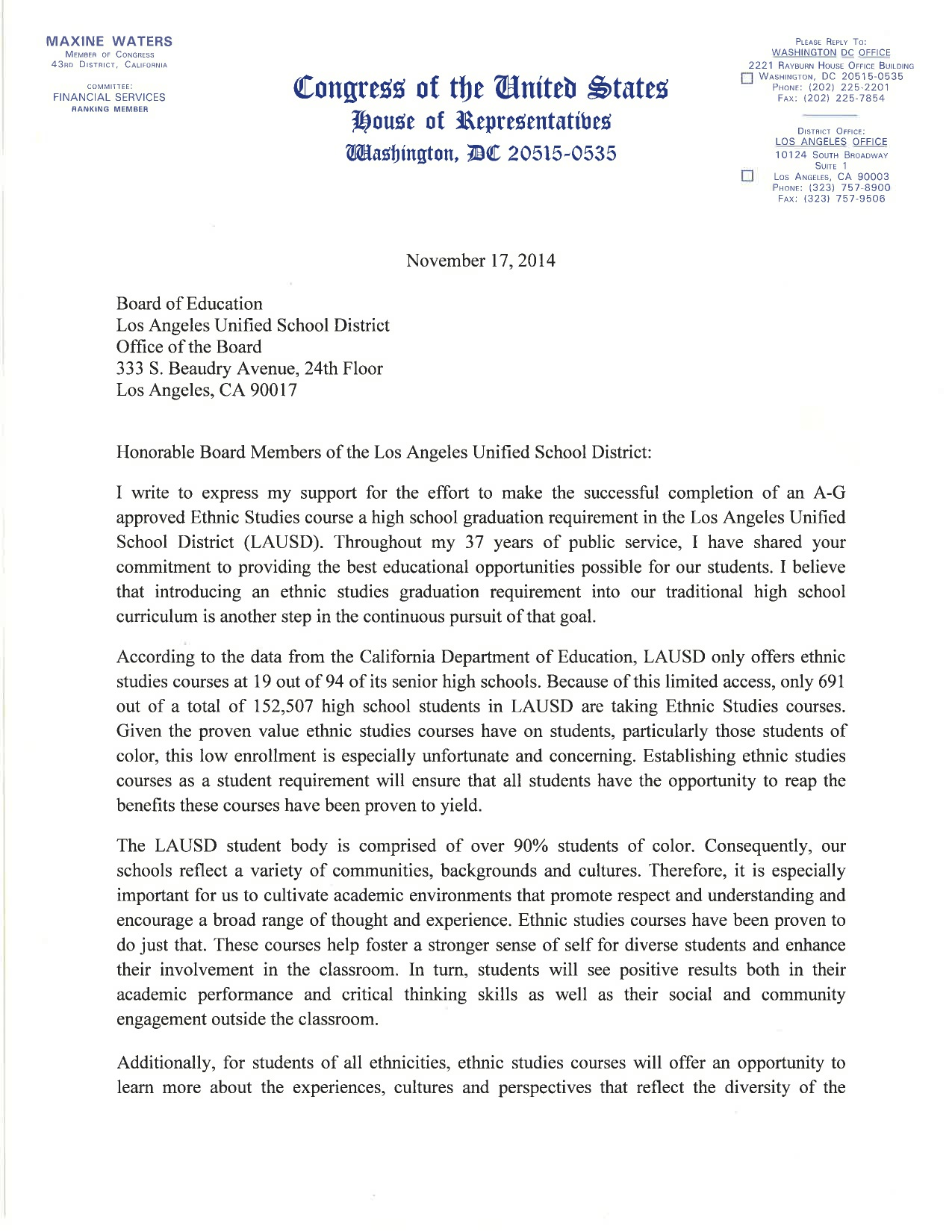 11-17-2014_Rep_Maxine_Watters_Letter_to_LAUSD__re_Ethnic_Studies_Requirement_p1.jpg
