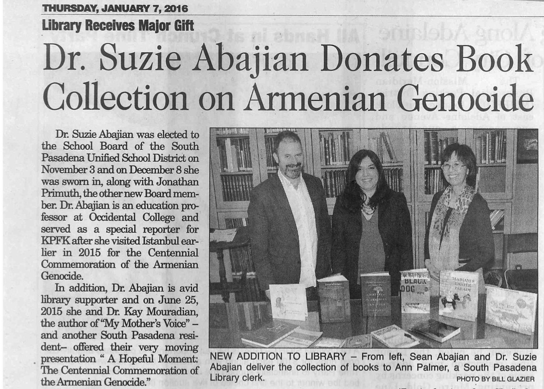 1-7-16_Dr_Suzie_Abajian_donates_Armenian_Genocide_books_to_SoPas_Library.jpg