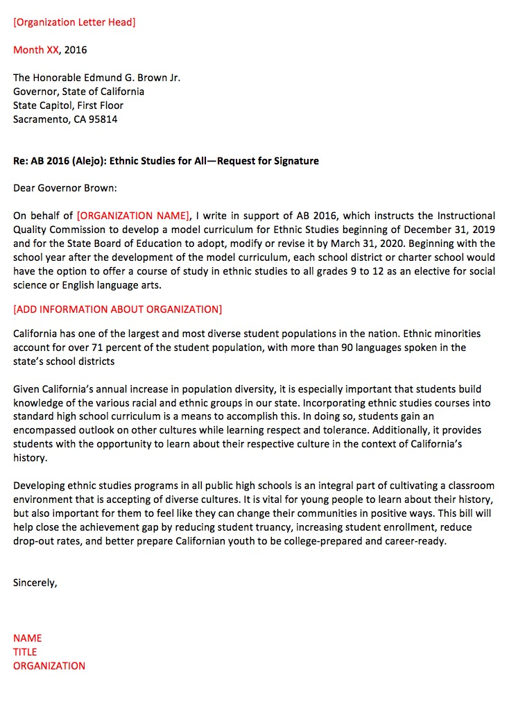 How to write a letter to a governor images letter format formal sample check here for ab 2016 updates ethnic studies now requestforsupportfromgovernorbrownforab2016g expocarfo images spiritdancerdesigns Choice Image