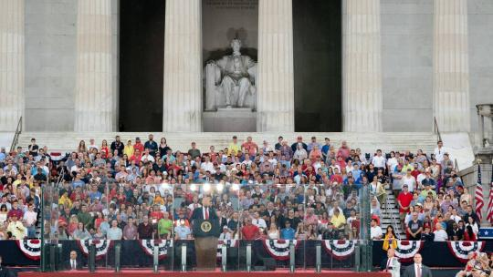 President Donald J. Trump addresses his remarks at the Salute to America event Thursday, July 4, 2019, at the Lincoln Memorial in Washington, D.C. (Official White House Photo by Joyce N. Boghosian)