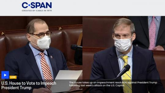 You can watch the impeachment proceedings on CSPAN. https://www.c-span.org/event/?507879/house-vote-impeach-president-trump&live