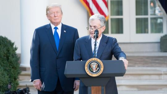 President Donald J. Trump announced the nomination of Jerome Powell to be Chairman of the Board of Governors of the Federal Reserve System | November 2, 2017 (Official White House Photo by Andrea Hanks)