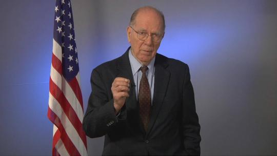 Lyndon LaRouche address a European conference on February 25, 2012 at LaRouchePAC Studios. (LaRouchePAC)