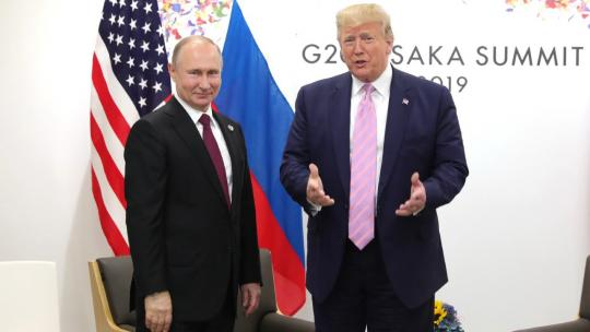Vladimir Putin met with President of the United States of America Donald Trump on the sidelines of the G20 summit in Osaka. June 28, 2019 (kremlin.ru)