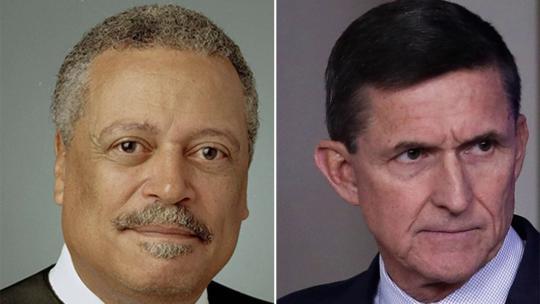 Left: Judge Emmet Sullivan - Right: (Ret) Gen. Michael Flynn