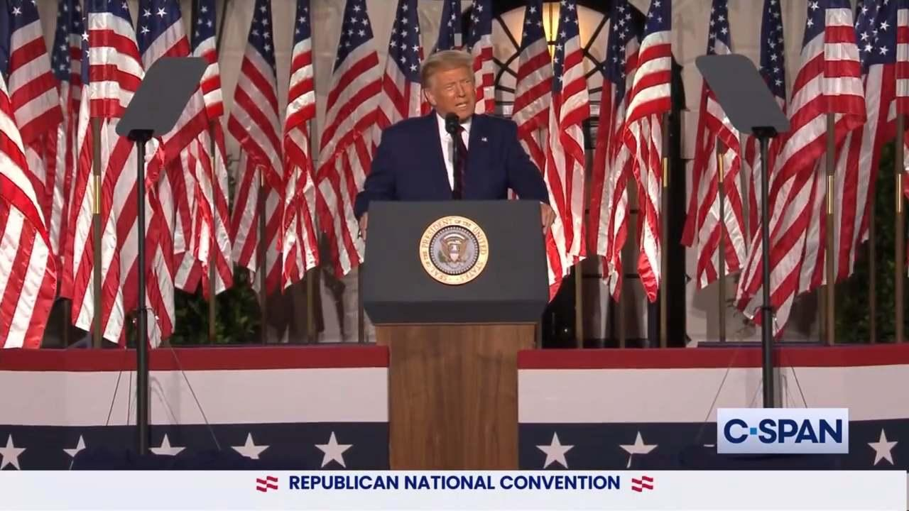 President Donald Trump during the Official Acceptance Speech at 2020 Republican National Convention (CSPAN)