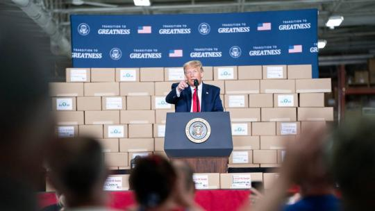 President Donald J. Trump delivers remarks Friday, June 5, 2020, at Puritan Medical Products in Guilford, Maine. (Official White House Photo by Joyce N. Boghosian)
