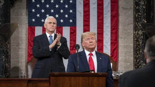 President Donald J. Trump delivers his State of the Union address Tuesday, Feb. 4, 2020, in the House chamber at the U.S. Capitol in Washington, D.C. (Official White House Photo by Shealah Craighead)