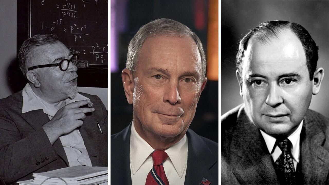 His thinking, rooted in systems analysis and cybernetics of de-mentors Norbert Wiener (left) and John von Neumann (right), Michael Bloomberg's approach as mayor led to the destruction of New York City and its public school system.