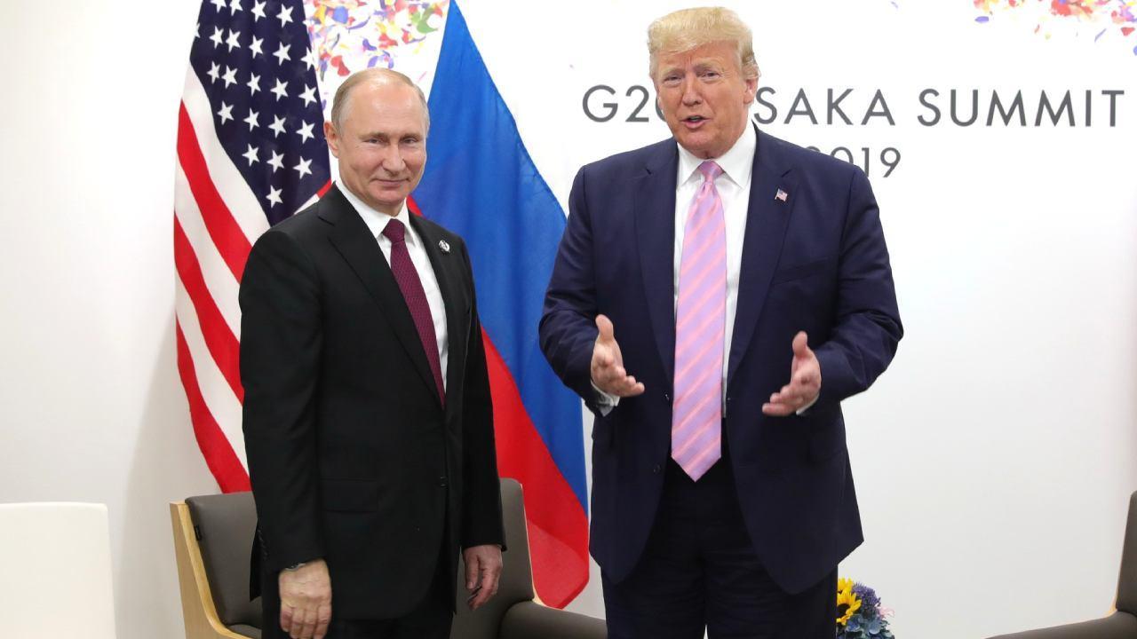 Vladimir Putin met with President of the United States of America Donald Trump on the sidelines of the G20 summit in Osaka. June 28, 2019 (kremlin.ru)