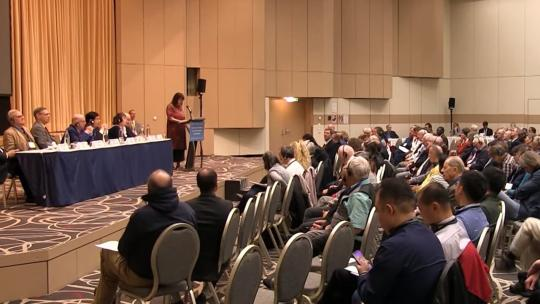 Helga Zepp-LaRouche delivered the keynote address at the Schiller Institute Conference. November 16, 2019. (Screengrab)