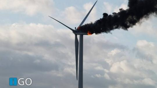 Wind power is deadlier and more wasteful than Nuclear Power. Windmill fires are more common than is popularly believed. This one seen here in October 2013, claimed the life two engineers in Ooltgensplaat on Goeree-Overflakkee, Netherlands.