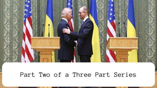 hen Vice President Biden and U.S.-installed Ukrainian Prime Minister Yatsenyuk in Kyiv, Ukriane, April 2014. Photo: U.S. Embassy Kyiv Ukraine