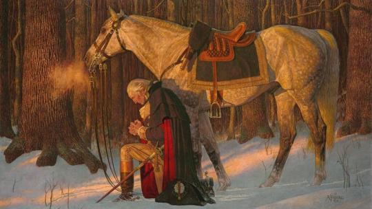 """""""The Prayer at Valley Forge"""" Arnold Friberg (1913-2010)"""