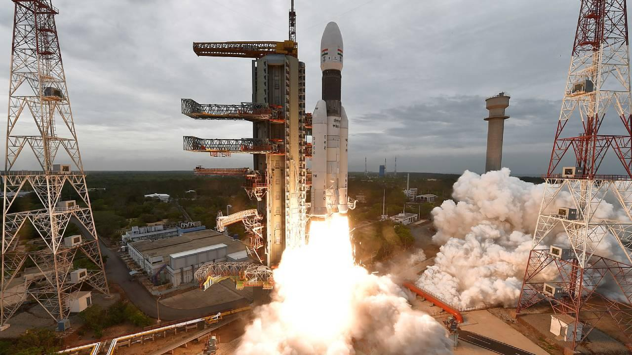 Part of the Chandrayaan-2 mission lifting off from second launch pad of SDSC SHAR. July 22, 2019 (Indian Space Research Organisation)