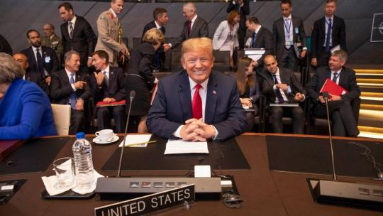 President Donald J. Trump participates in the multilateral meeting of the North Atlantic Council | July 11, 2018 (Official White House by Shealah Craighead)