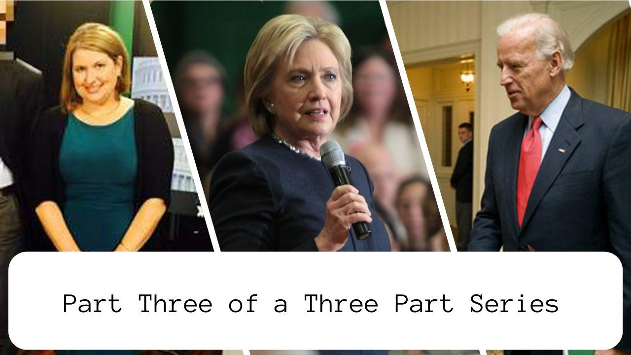 Photo from left to right: Alexandra Chalupa (heavy.com), Hillary Clinton (Gage Skidmore), Joe Biden (Whitehouse Photo)