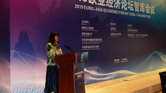 Schiller Institute founder, Helga Zepp-LaRouche addresses the 2019 Euro-Asia Economic Forum.