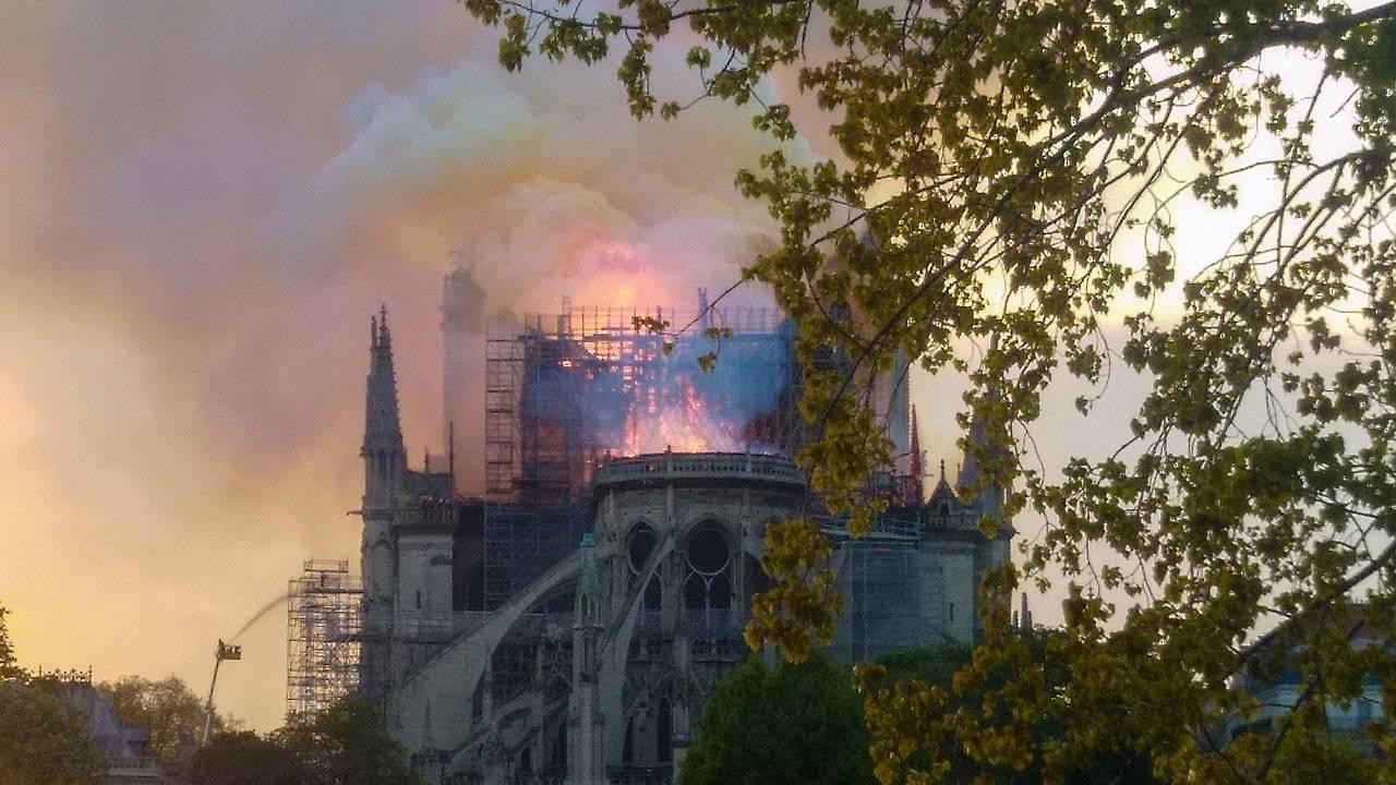 In a terrible loss for all humanity, the famous Notra Dame Cathedral in Paris was on fire for 8 hours on April 15, 2019. The Cathedral was in repair/construction when the fire started. (Remi Mathis / Wikimedia / CC 4.0 Share Alike International)