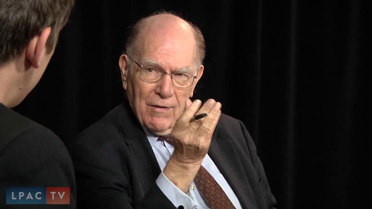 Lyndon LaRouche speaks during a webcast. May 14, 2014 (LaRouchePAC)