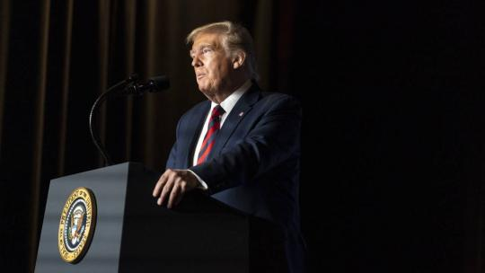 President Donald J. Trump delivers remarks at the 2019 National Historically Black Colleges and Universities (HBCU) Conference Tuesday, Sep. 10, 2019, at the Renaissance Hotel in Washington, D.C. (Official White House Photo Shealah Craighead)