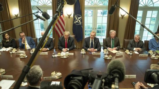 Bilateral meeting between NATO Secretary General Jens Stoltenberg and US President Donald Trump. April 2, 2019 - Whitehouse, Washington DC. (NATO Photo)