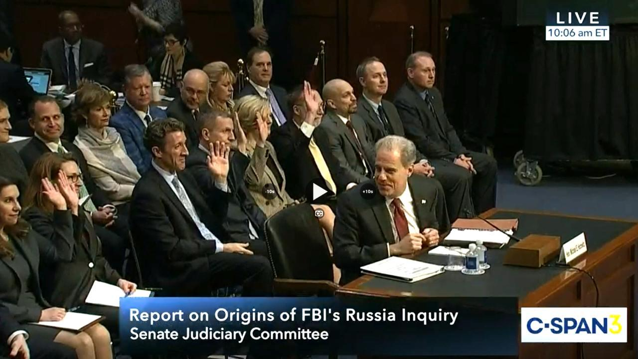 Justice Department IG Testifies on FISA Abuse Allegations (CSPAN)