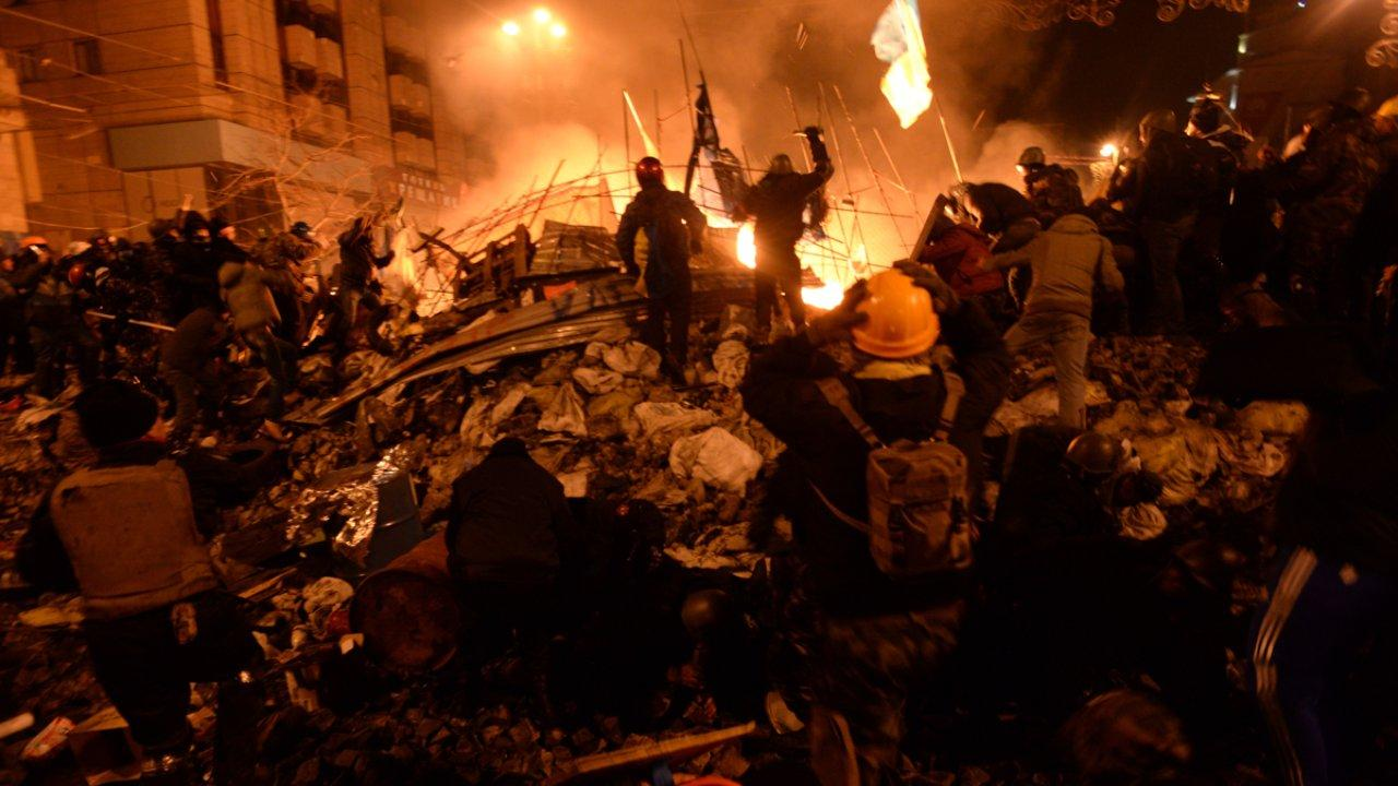 Clashes in Kyiv, Ukraine. Events of February 18, 2014. (Mstyslav Chernov/Unframe)