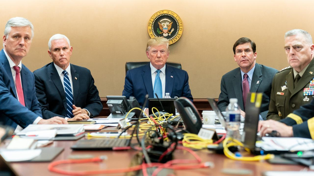 President Trump Watches as U.S. Special Operations Forces Close in on ISIS Leader, Oct. 26, 2019, in the Situation Room of the White House. (Official White House Photo by Shealah Craighead)