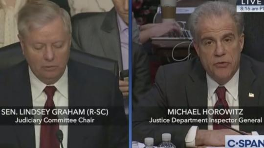 Screengrab from the Senate Hearing on December 11, 2019. (CSPAN)