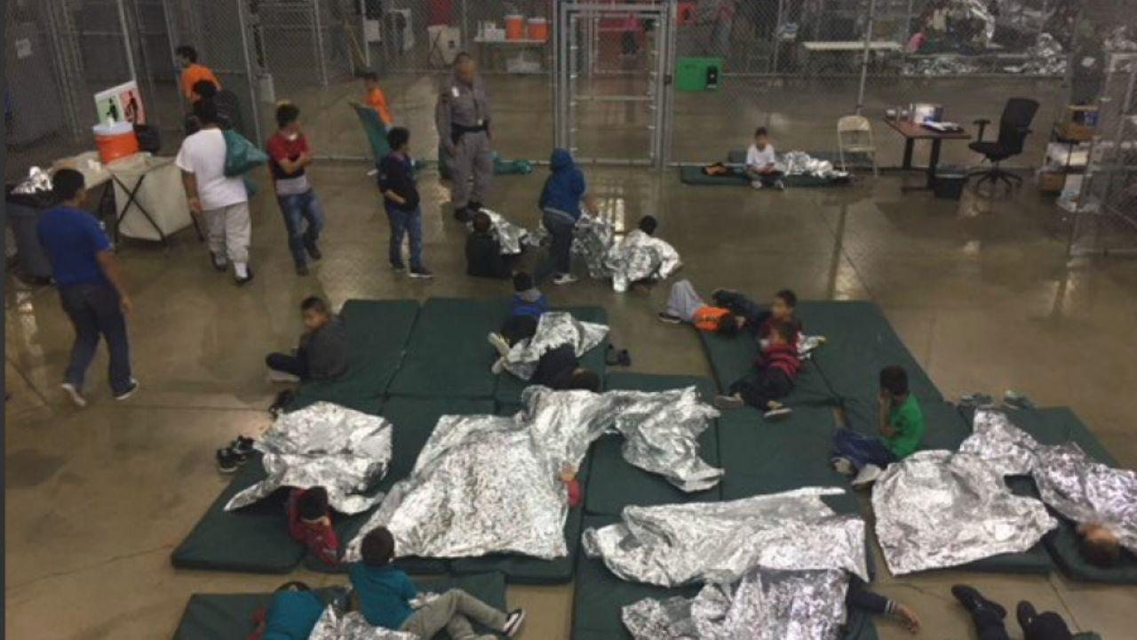 Photo provided by Custom and Border Protection to reporter on tour of detention facility in McAllen, Texas. June 17, 2018 (US Custom and Border Patrol)