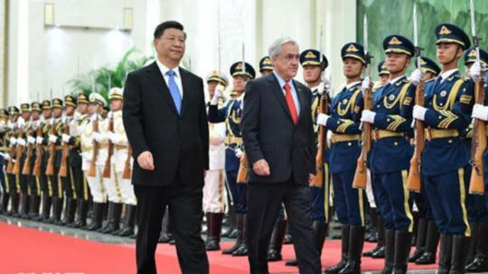 On April 24, 2019, President Xi Jinping held talks with President Sebastian Pinera of Chile at the Great Hall of the People. (www.news.cn)
