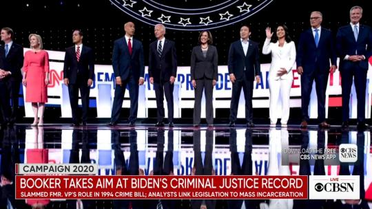 Democratic Party Presidential Debate 2019. (CBS Screengrab)