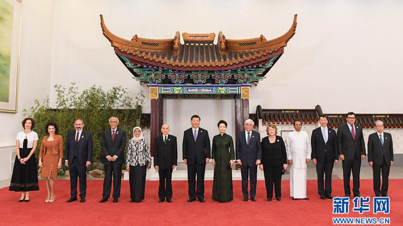 On May 14, President Xi Jinping and his wife Peng Liyuan held a banquet in the Great Hall of the People in Beijing to welcome the foreign leaders and guests attending the Asian Civilization Dialogue Conference. Xinhua News Agency reporter Rao Aimin photo