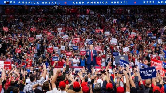 President Trump holds a massive campaign rally in Dallas, TX. October 17, 2019. (Donald J. Trump/Facebook)