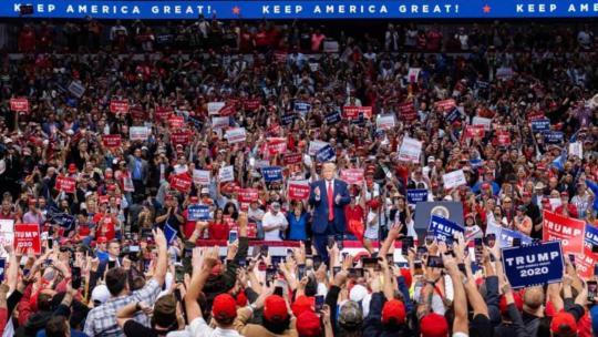 President Trump holds a massive campaign rally in Dallas, TX. October 17, 2019. (Donald J. Trump/Facebook)