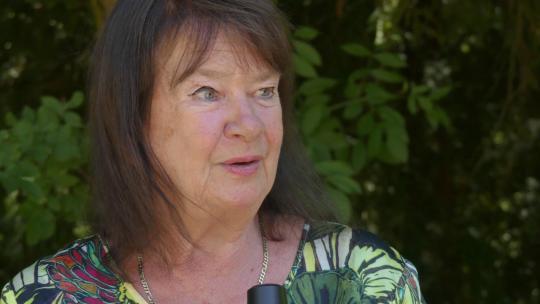 Helga Zepp-LaRouche being interviewed during a Schiller Institute Conference in Bad Soden, Germany. June 2018 (Michelle Rasmussen / EIRNS)