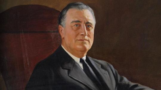 A portrait of Franklin Roosevelt painted during the WW2 years.