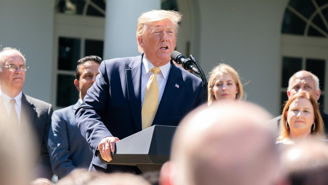 President Donald J. Trump deliver remarks on expanding healthcare coverage options for small businesses and workers Friday, June 14, 2019, in the Rose Garden of the White House. (Official White House Photo by Shealah Craighead)