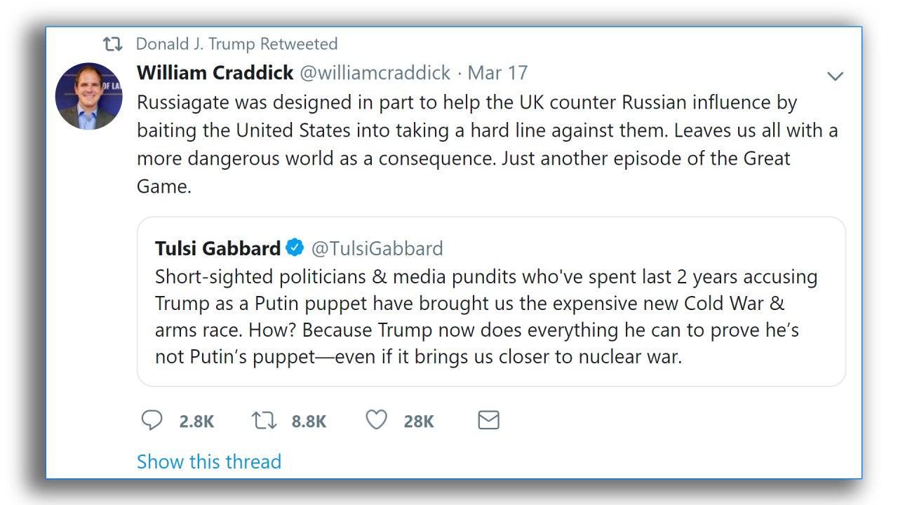 Trump's retweet from March 17, 2019. (twitter/@realdonaldtrump)