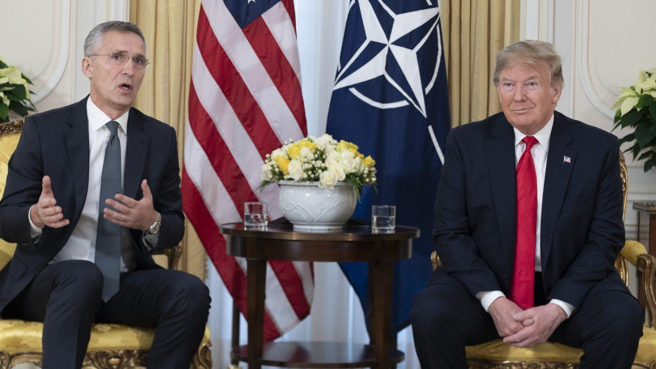 President Donald J. Trump meets with NATO Secretary General Jens Stoltenberg during a one on one meeting Tuesday, Dec. 3, 2019, at Winfield House in London. (Official White House Photo by Shealah Craighead)