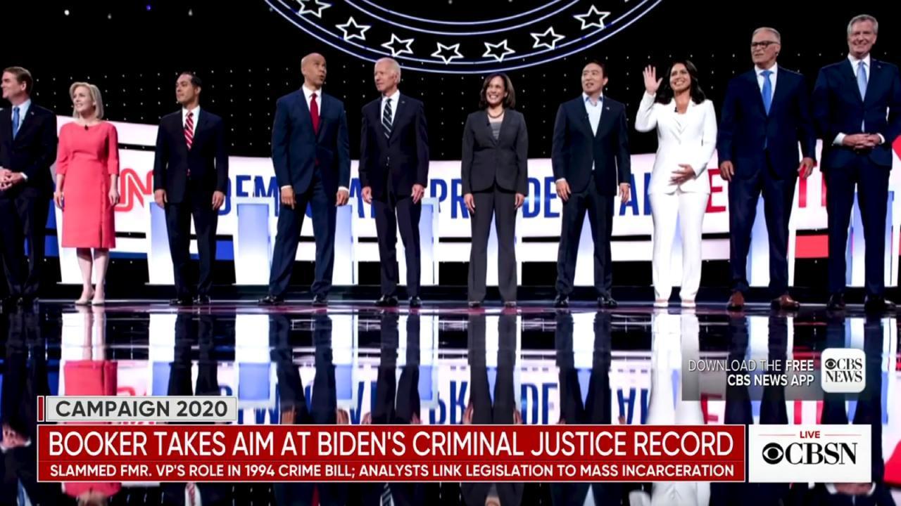 Democratic Party Presidential Debate 2019. (CBS Screengrab)